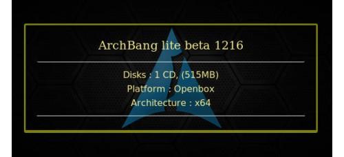 ArchBang lite beta 1216 64bit