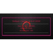Debian ( Jessie ) 8.6.0 LXDE 64bit