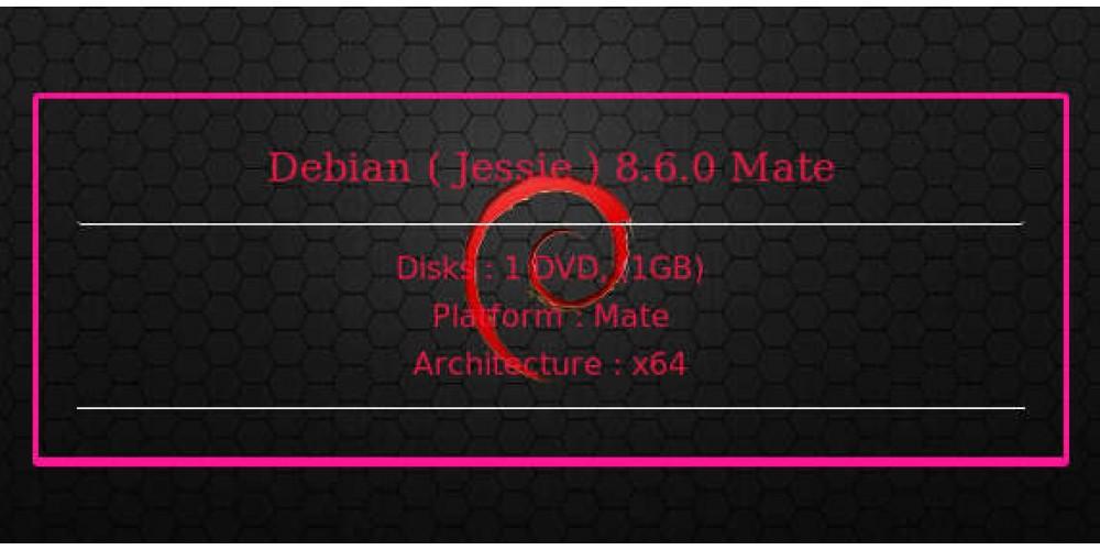 Debian ( Jessie ) 8 6 0 Mate 64bit