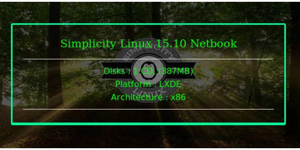 Simplicity Linux 15 10 Netbook