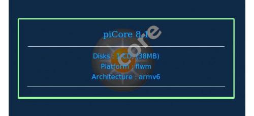 piCore 8.1