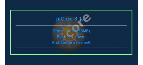 piCore 8.1.1
