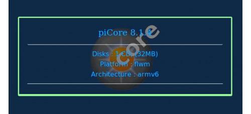 piCore 8.1.4