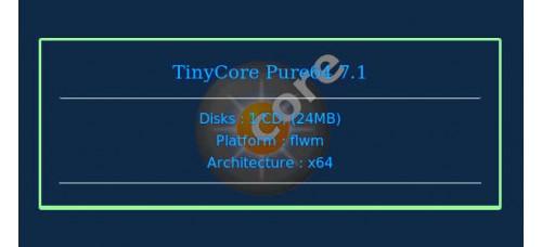 TinyCore Pure64 7.1