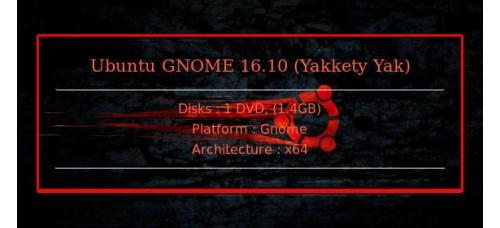 Ubuntu GNOME 16.10 (Yakkety Yak) 64bit